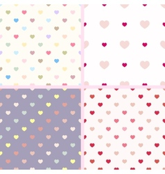 Set of 4 seamless geometric pattern with small vector image