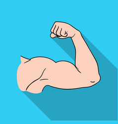 biceps icon in flat style isolated on white vector image