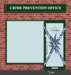 crime prevention vector image vector image