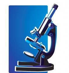 electronic micro scope vector image