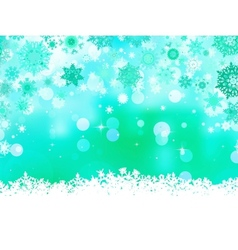 Elegant christmas green with snowflakes EPS 8 vector image vector image