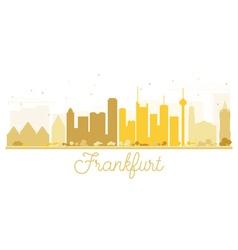 Frankfurt City skyline golden silhouette vector image