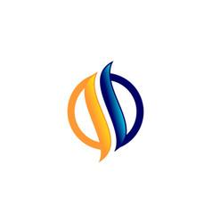 letter s flame logo vector image