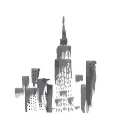 New York skyscrapers vector image