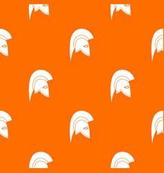 roman helmet pattern seamless vector image vector image