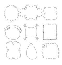 Set of simple funny black frame vector image vector image