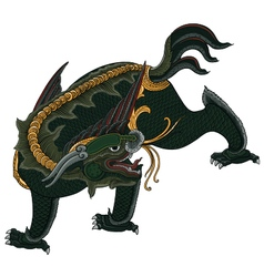 thai tradition painting dragon vector image