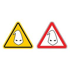 Warning sign of racism Hazard Yellow Sign race vector image vector image