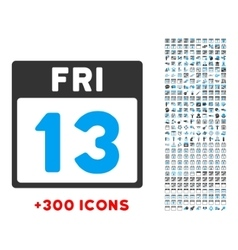 13 Friday Icon vector