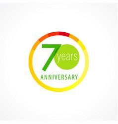 70 anniversary circle logo vector