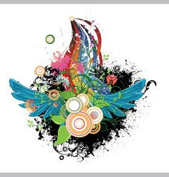 Abstract design with wings vector