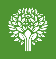 abstract tree eco product logo vector image