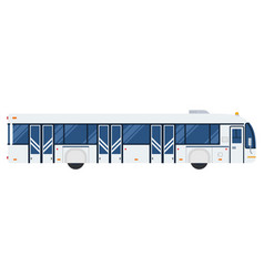 airport bus flat design isolated object on white vector image