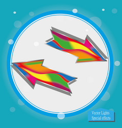 arrow icon arrow abstract logo template vector image