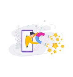 Attract positive reviews customer feedback flat vector