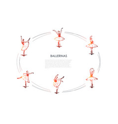 ballerinas - women dancers in different dancing vector image