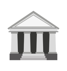 Bank building place icon vector