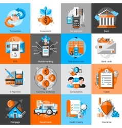 Banking Icons Set vector image