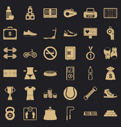 basketball shoe icons set simple style vector image