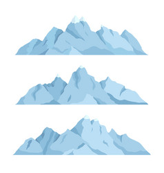 big mountain set vector image