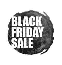 Black friday sale poster with watercolor spot on vector