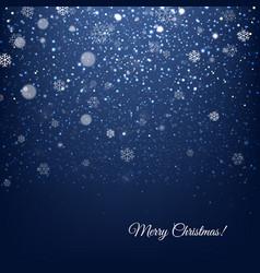 Blue christmas banner vector
