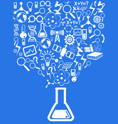 Blue science background vector