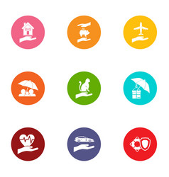 buildup icons set flat style vector image