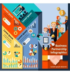 Business Partnership Infographics vector image
