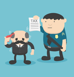 Businessman trouble with taxes vector