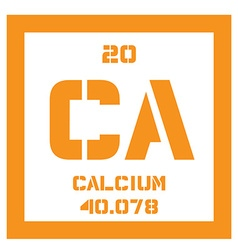 Calcium chemical element vector image
