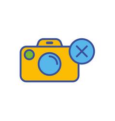 camera flat icon sign symbol vector image