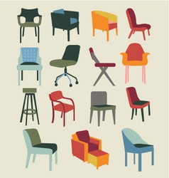 chair set of chairs interior furniture vector image