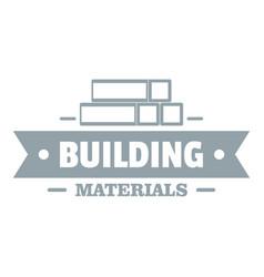 Construction materials logo gray monochrome style vector