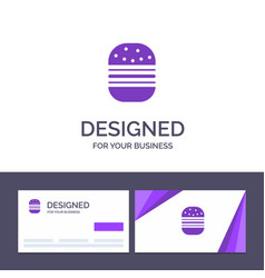 creative business card and logo template burger vector image
