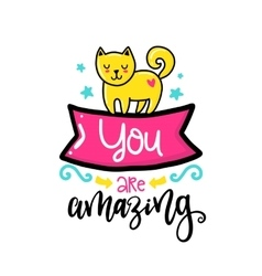 Creative typography card with phrase vector image