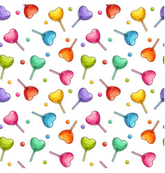 cute childish candy texture seamless pattern vector image