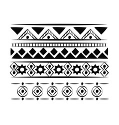 decorative boho pattern background vector image