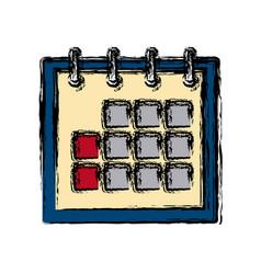 Delivery calendar day agenda plan date vector