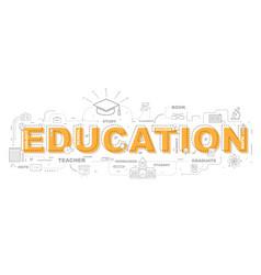 design concept word education website banner vector image