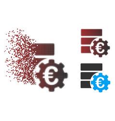 Dispersed pixel halftone euro financial database vector