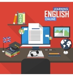 Distance English language vector