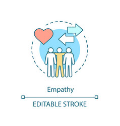 Empathy concept icon sensitivity togetherness vector