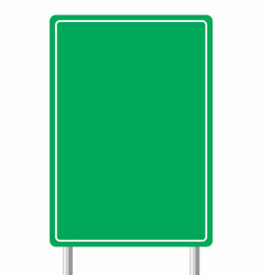 empty traffic sign board vector image