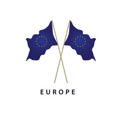Europe flag template design vector
