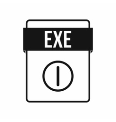 EXE file icon simple style vector image