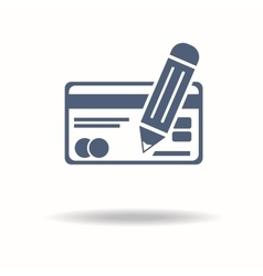 fill in data credit card information Flat icon vector image