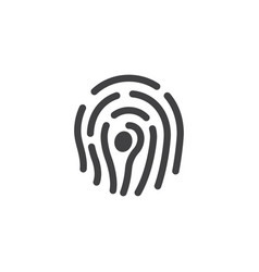 fingerprint icon design template isolated vector image