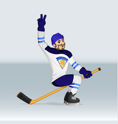 Finland ice hockey hockey player vector