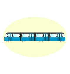 flat blue underground icon subway symbol vector image